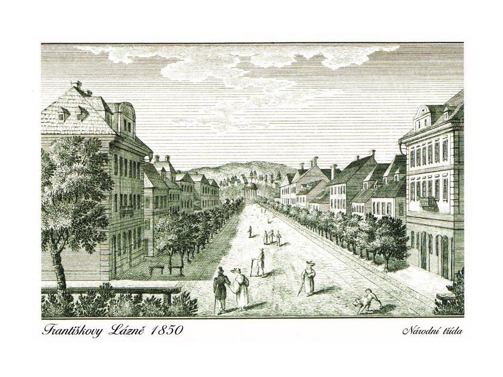 Pohlednice Františkovy Lázně (1850)