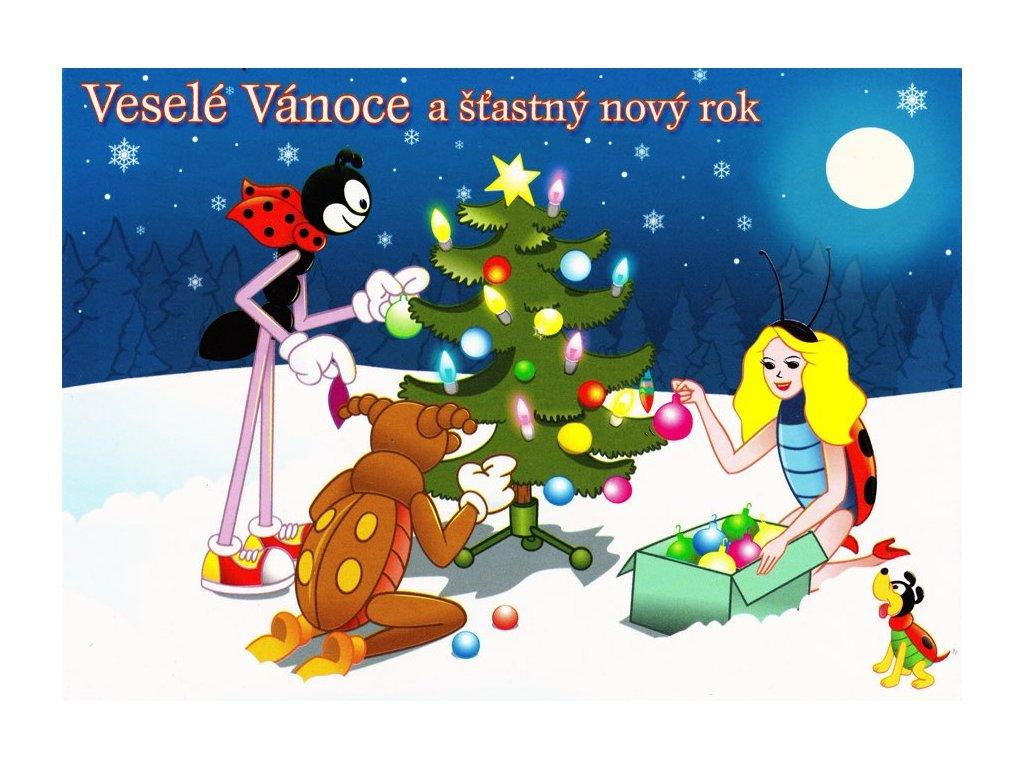 Pohlednice Vánoční Ferda Mravenec 2