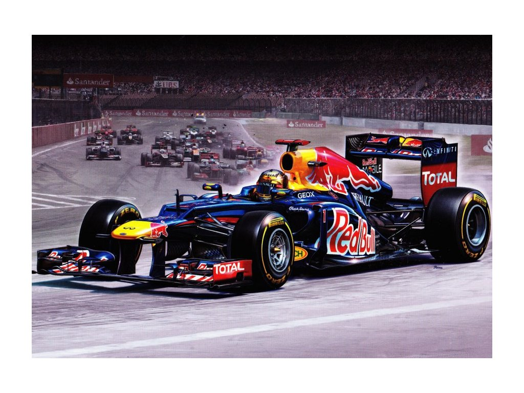 """Pohlednice formule Red Bull Racing RB8 """"Sebastian Vettel"""""""