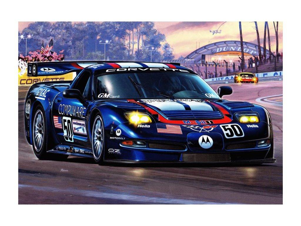 Pohlednice závodní vůz týmu Corvette Racing 50