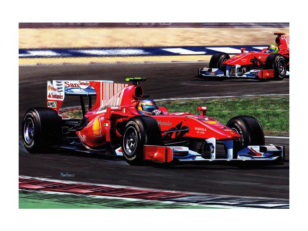 Pohlednice Ferrari F10