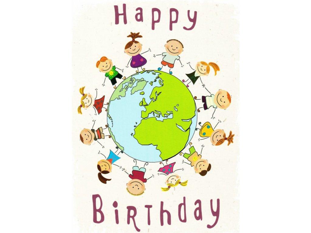 Pohlednice Happy Birthday děti
