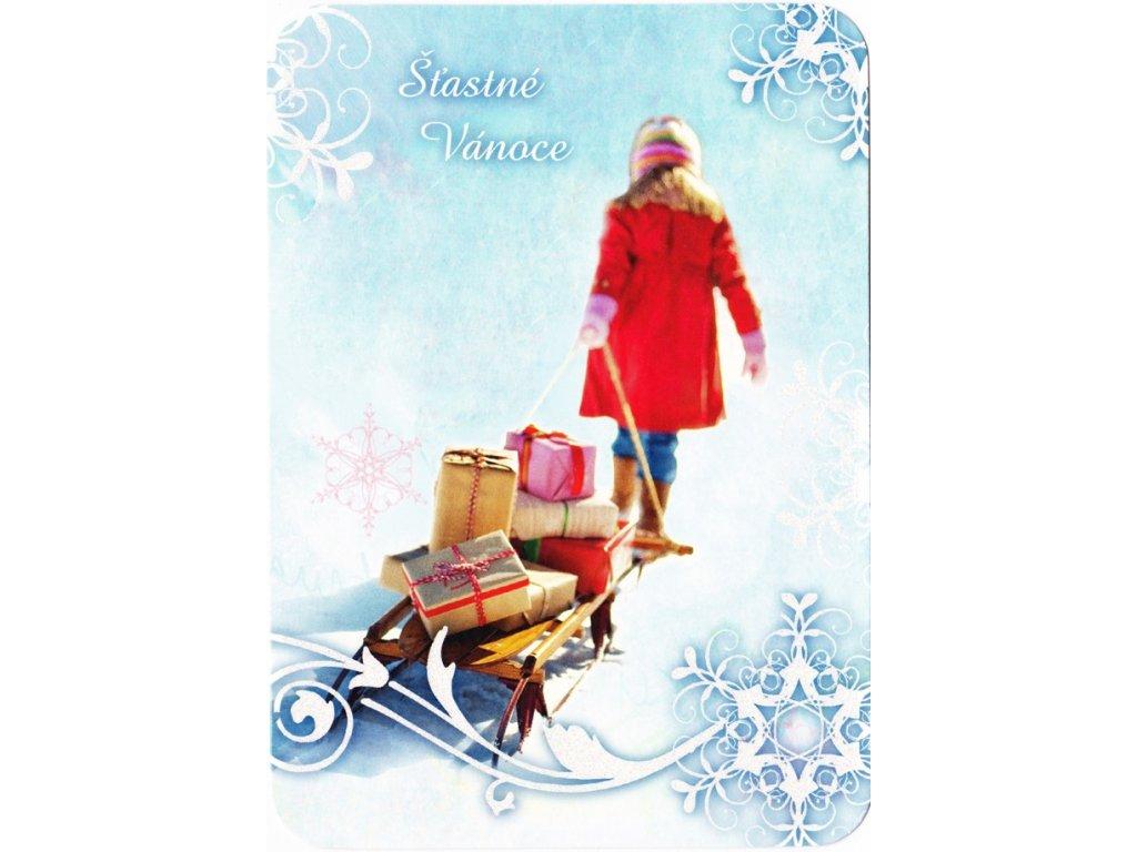 Vánoční pohlednice třpyt 79