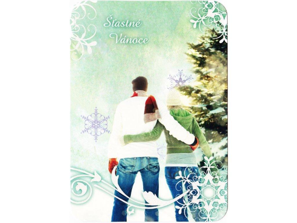 Vánoční pohlednice třpyt 81