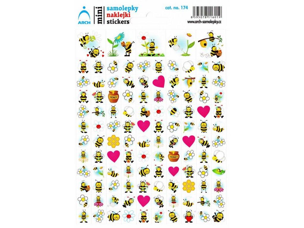 Samolepky mini - včelky