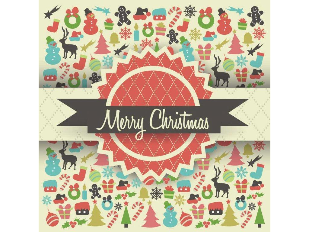 Pohlendnice Merry Christmas retro