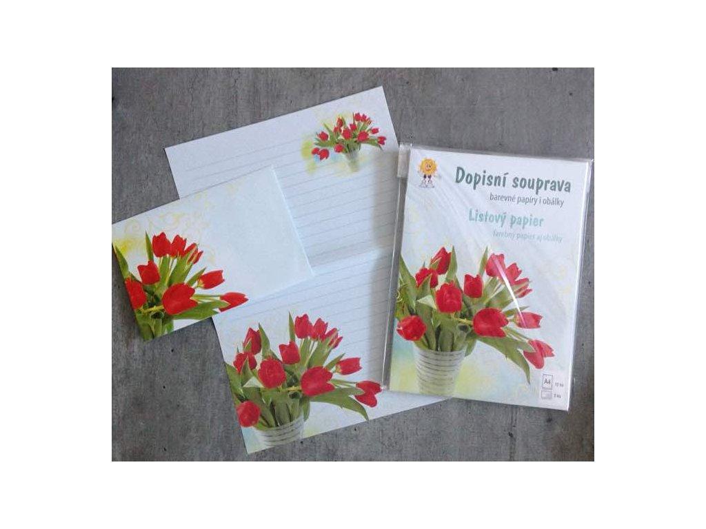 Dopisní souprava Tulipány