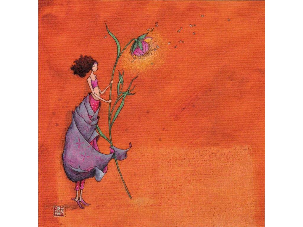 Pohlednice Květinka