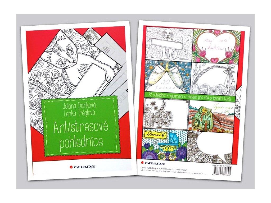Kniha 22 pohlednic k vybarvení