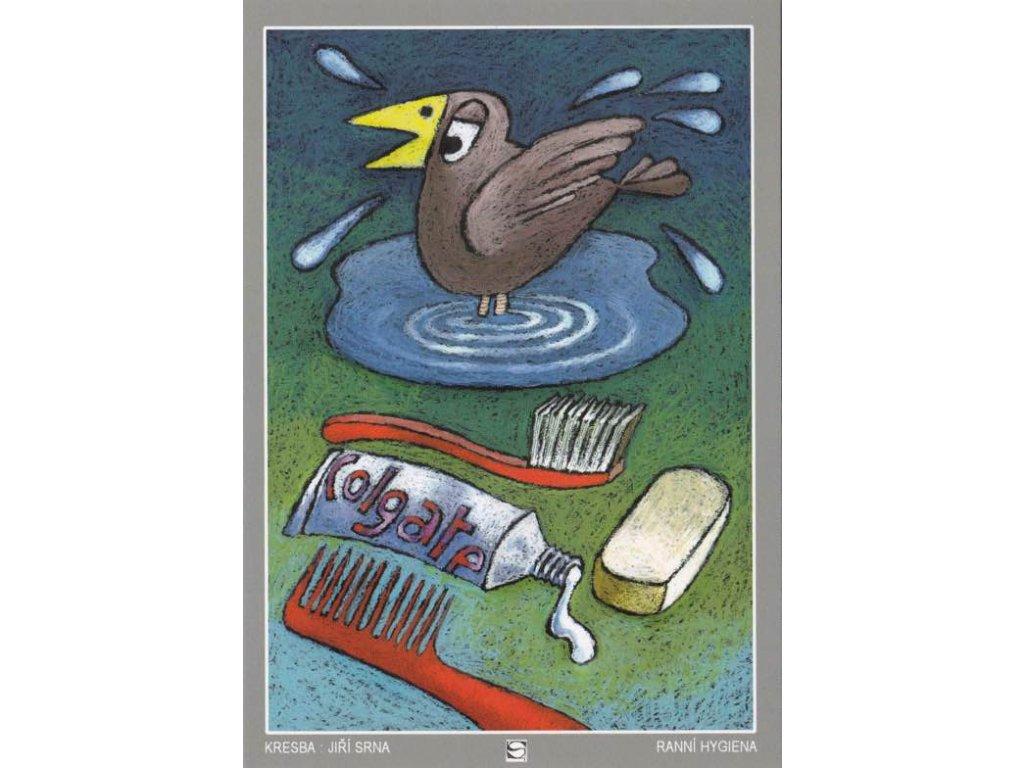Pohlednice Ranní hygiena