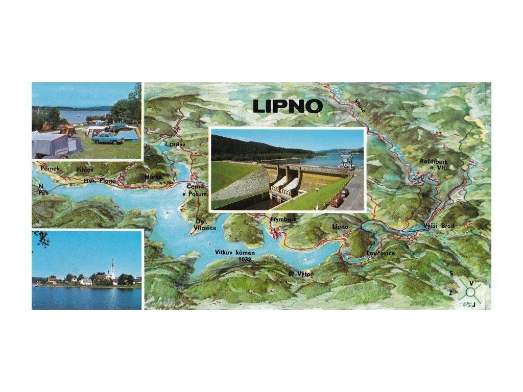 Retro pohlednice Lipno