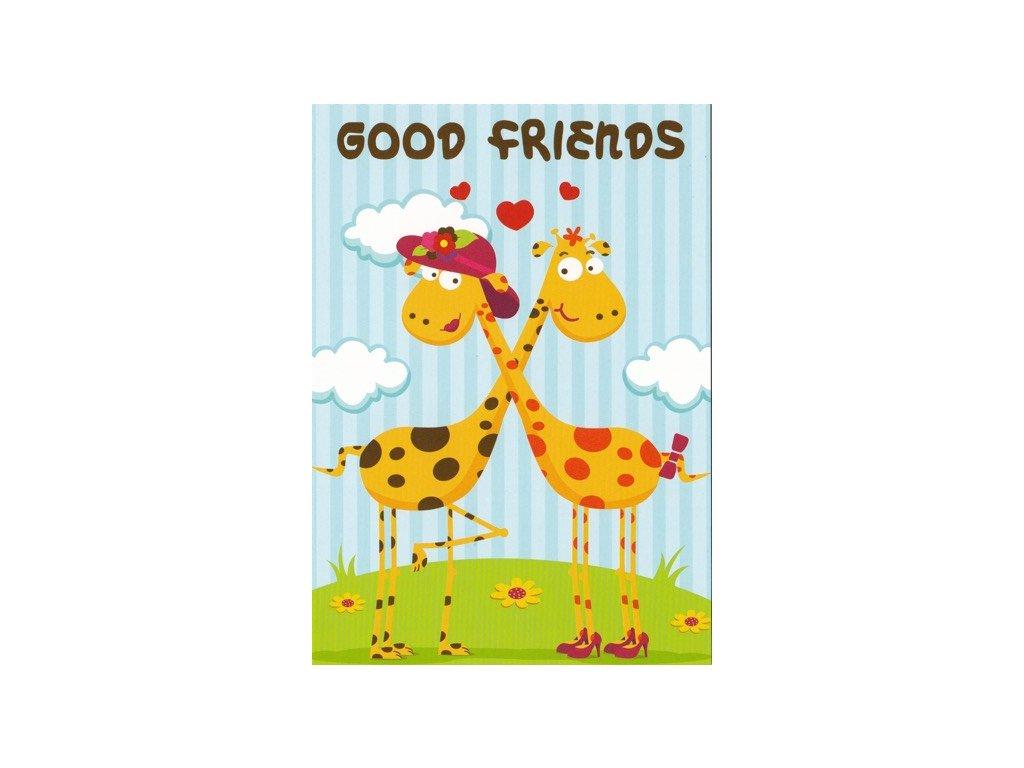 Pohlednice Good Friends - žirafky