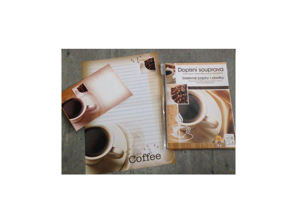 Dopisní souprava káva
