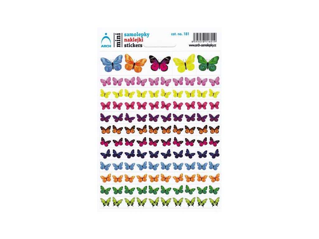 Samolepky mini - motýlci
