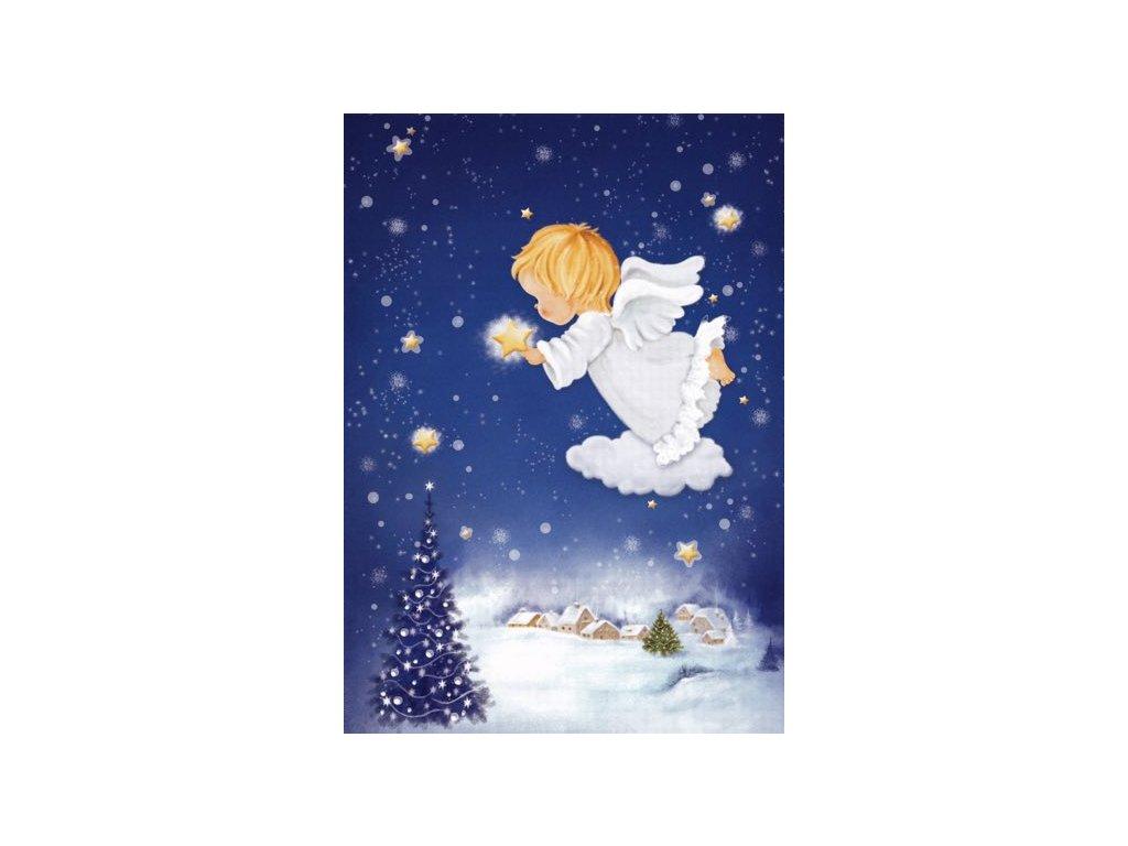 Vánoční pohlednice Andílek