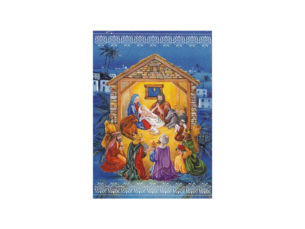 Vánoční pohlednice Ježíšek