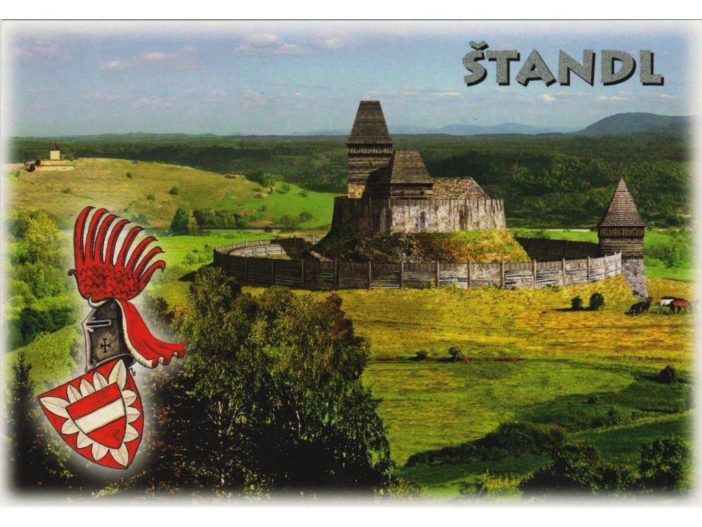 Pohlednice hrádek Štandl