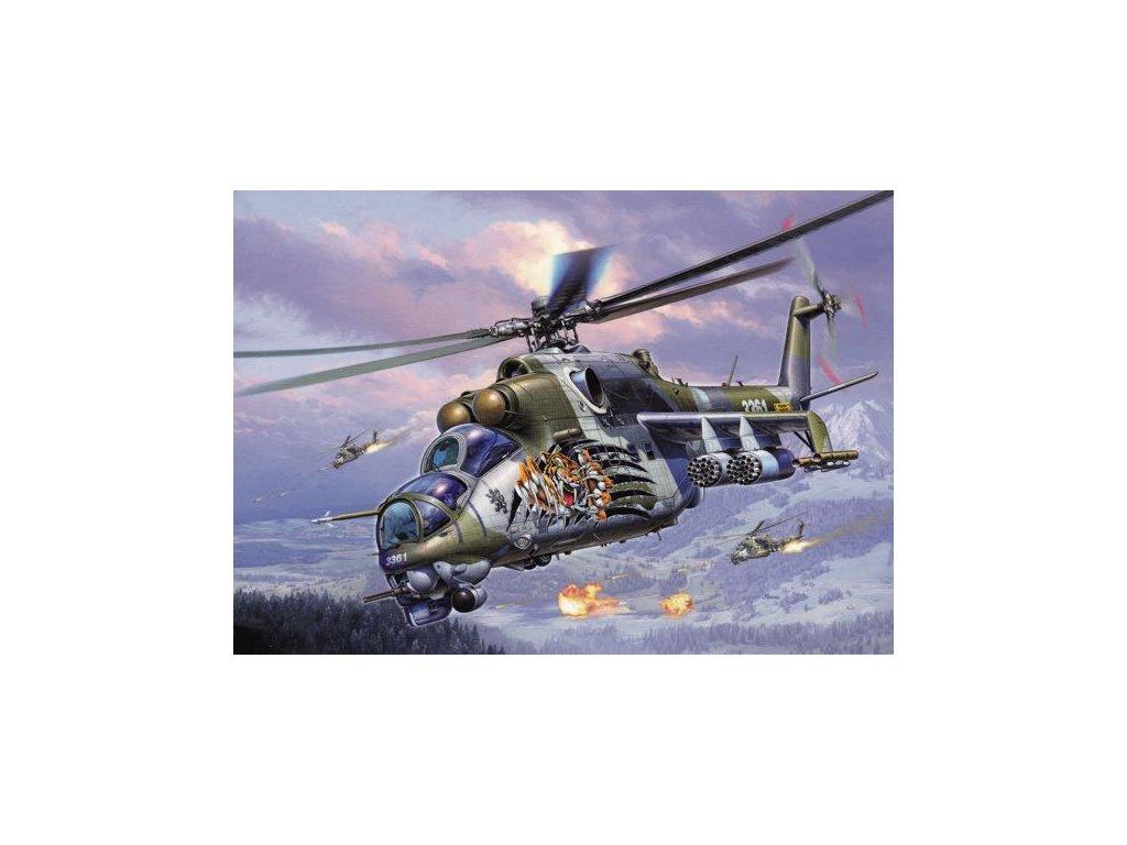 Pohlednice Bitevní vrtulník Mil Mi-24