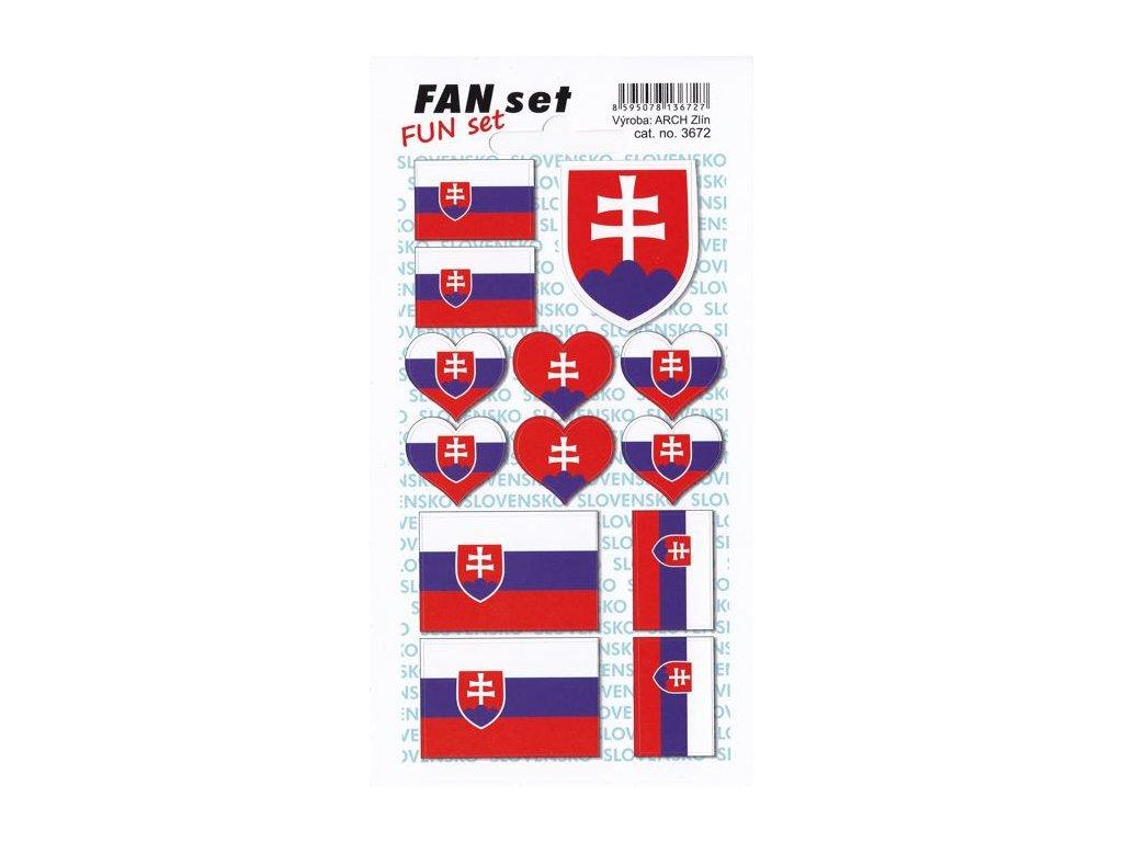 Samolepky znak a vlajka SR