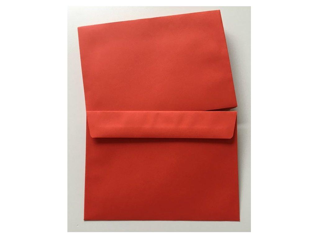 Dopisní obálka červená