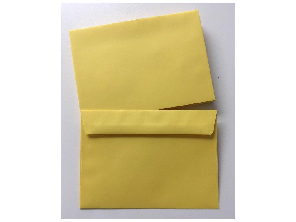 Dopisní obálka žlutá