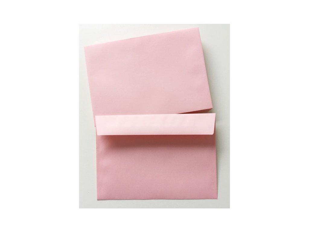 Dopisní obálka růžová