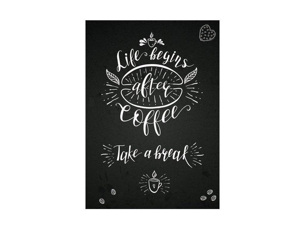 Pohlednice Pauza s kávou