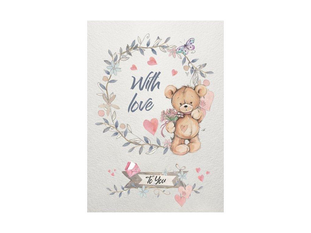 Pohlednice Medvídek z lásky 1