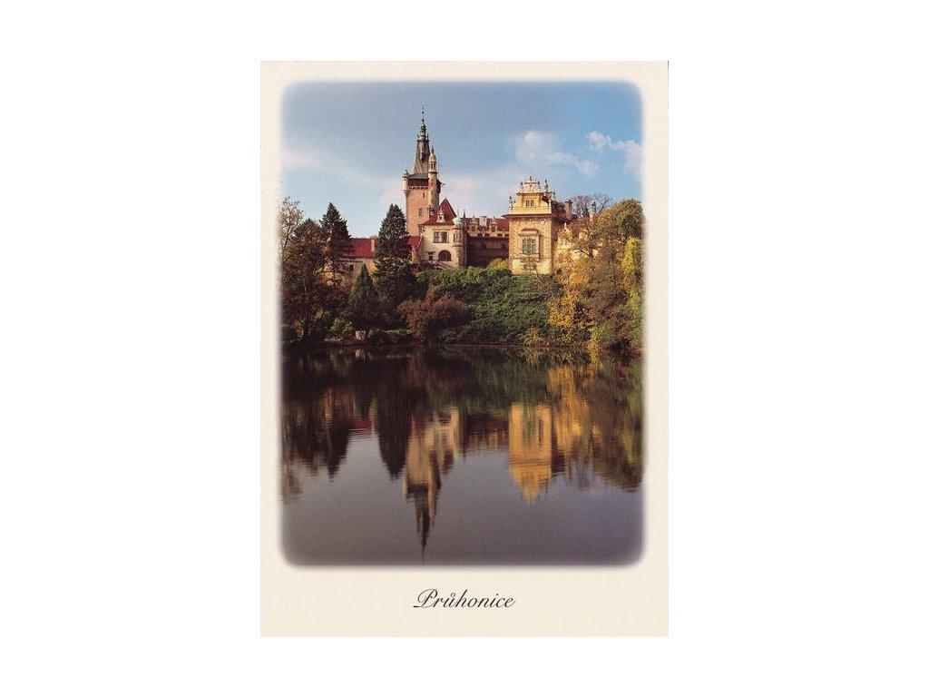 Pohlednice zámek Průhonice (UNESCO)