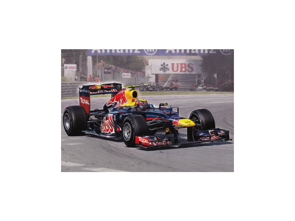 "Pohlednice Formule Red Bull Racing RB8 ""Mark Webber"""