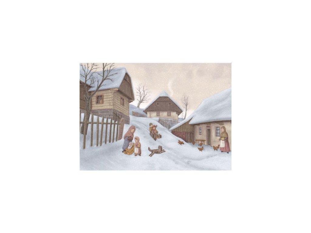 Pohlednice Vánoční klouzačka