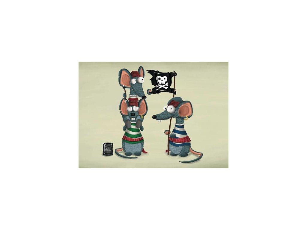 Pohlednice Mědvěd Wrr - Myši piráti