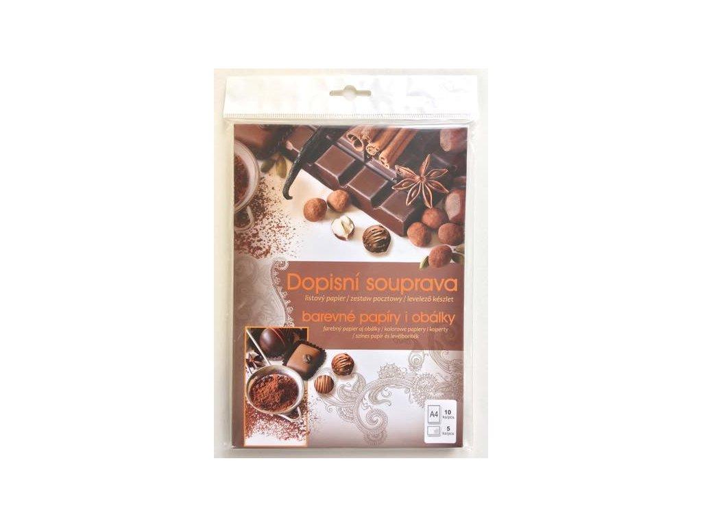Dopisní sada Čokoládová