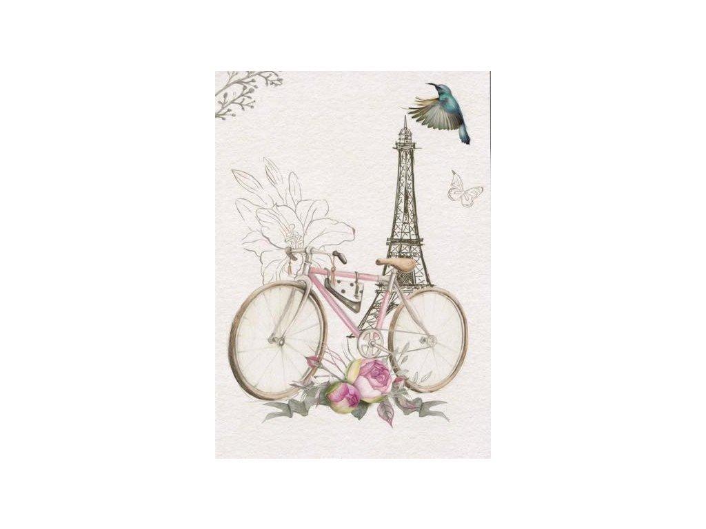 Pohlednice Retro kolo Paříž
