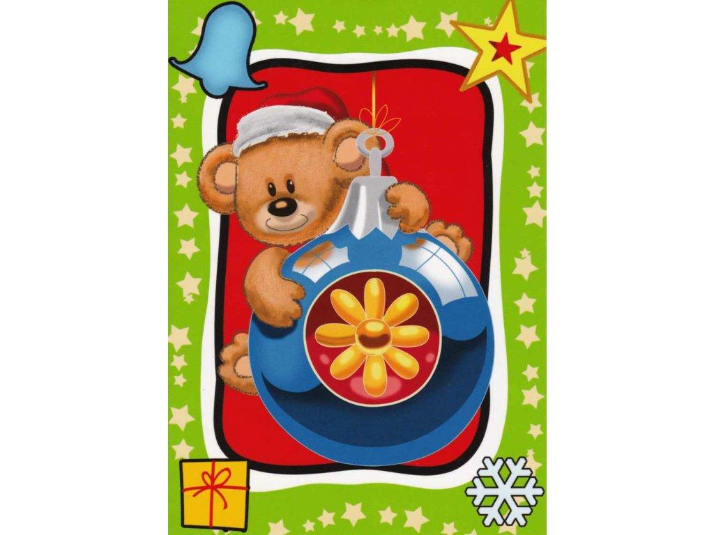 Vánoční pohlednice dětská 4