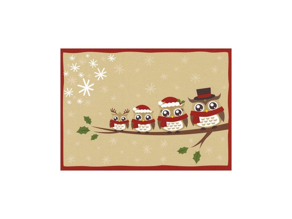 Pohlednice Vánoční sovičky