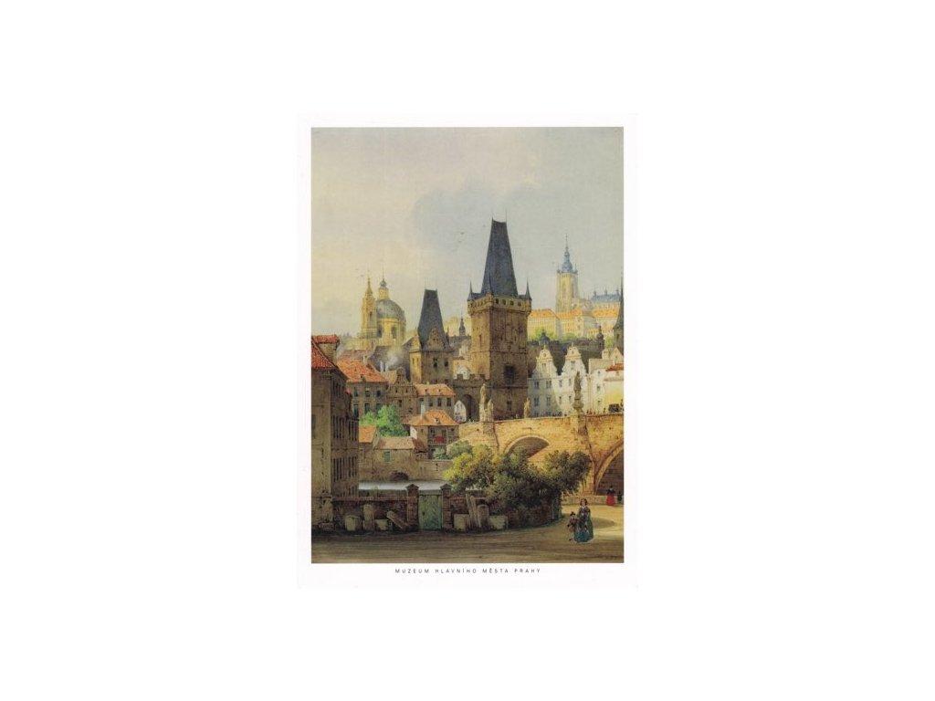 Pohlednice Malostranské mostecké věže