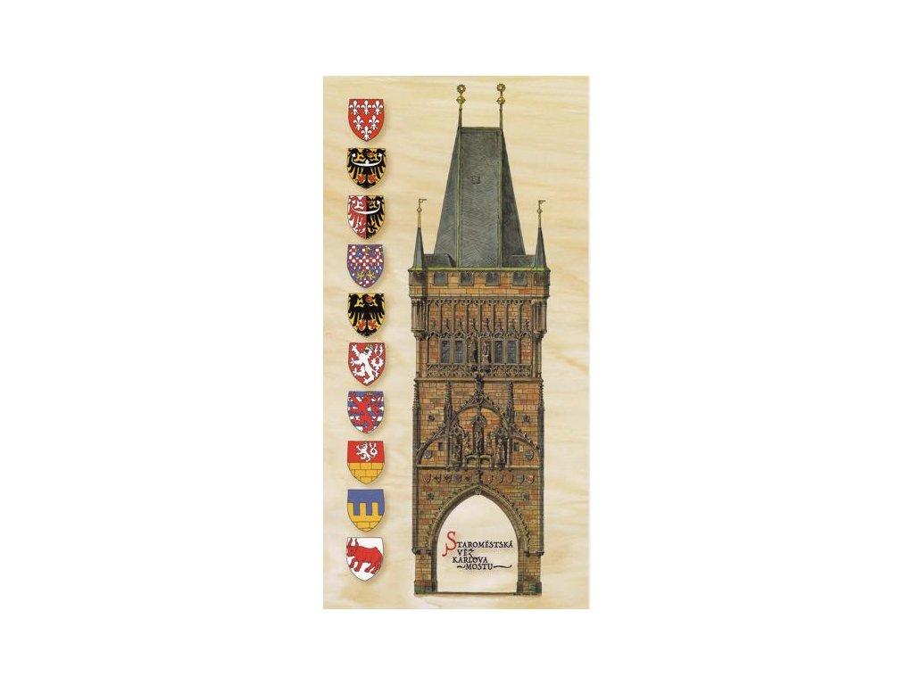 Pohlednice Staroměstská mostecká věž
