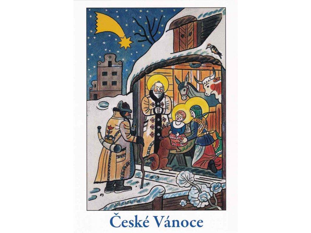 Vánoční pohlednice Josef Lada 2