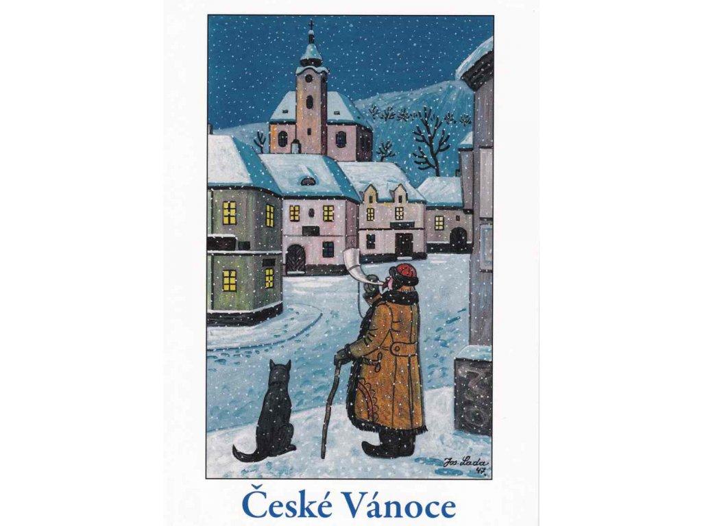 Vánoční pohlednice Josef Lada 4