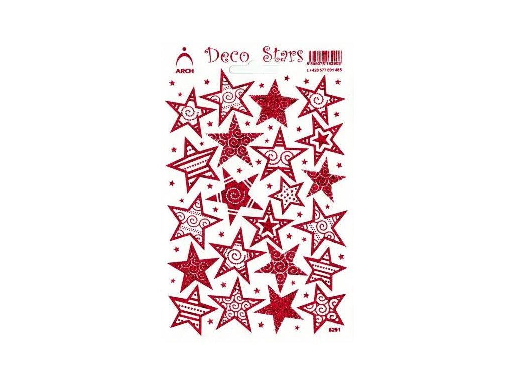 Samolepky Hvězdy lesklé