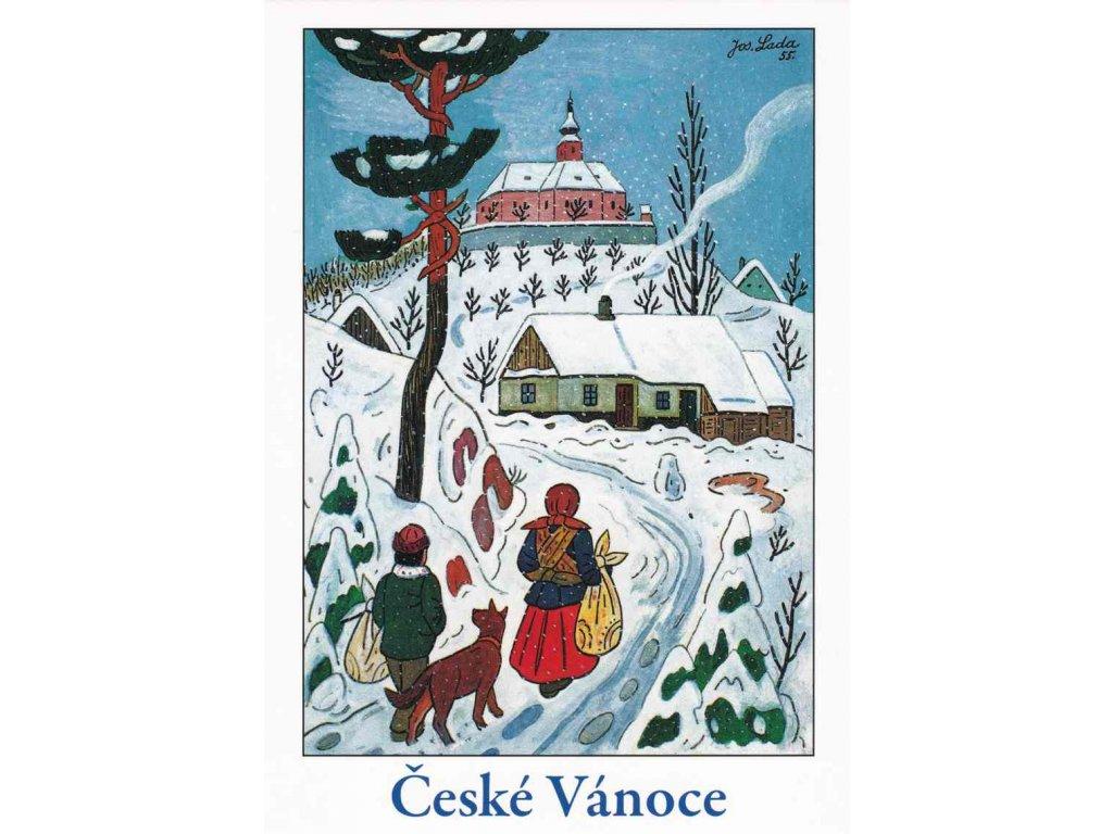 Vánoční pohlednice Josef Lada 6