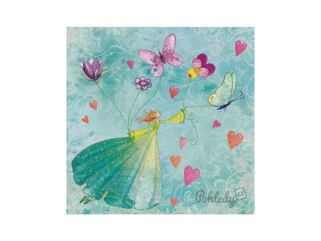 Pohlednice S motýlky