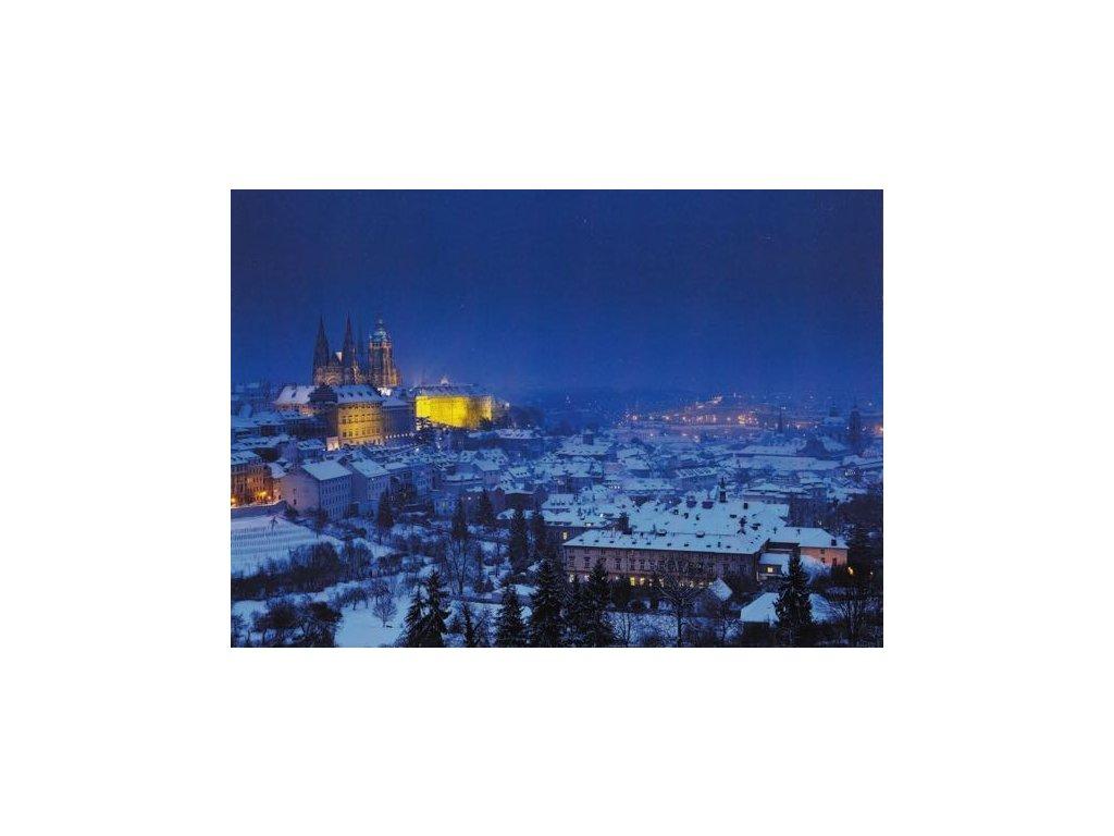 Pohlednice Zimní Praha