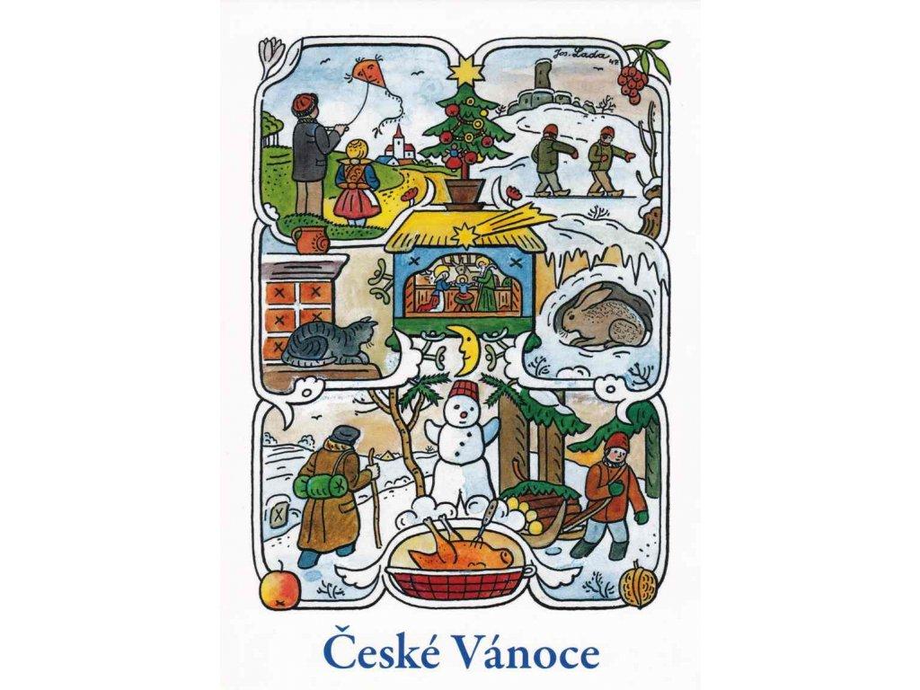 Vánoční pohlednice Josef Lada 8