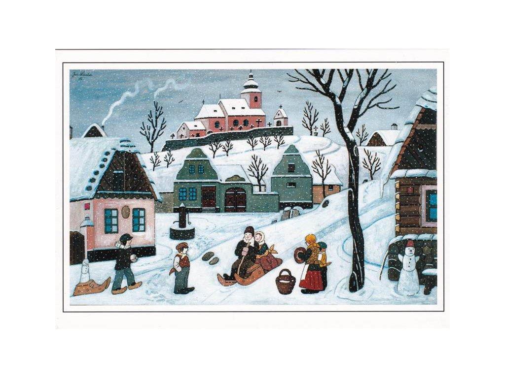 Vánoční pohlednice Josef Lada 9