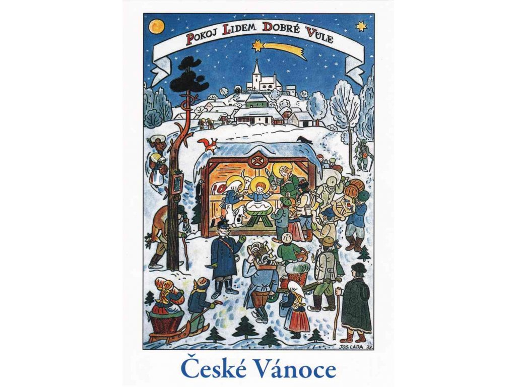 Vánoční pohlednice Josef Lada 24