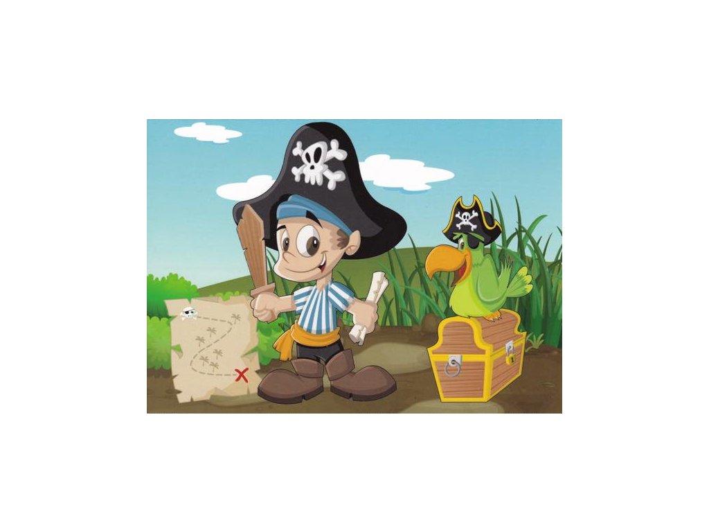 Pohlednice Pirát s papuškem