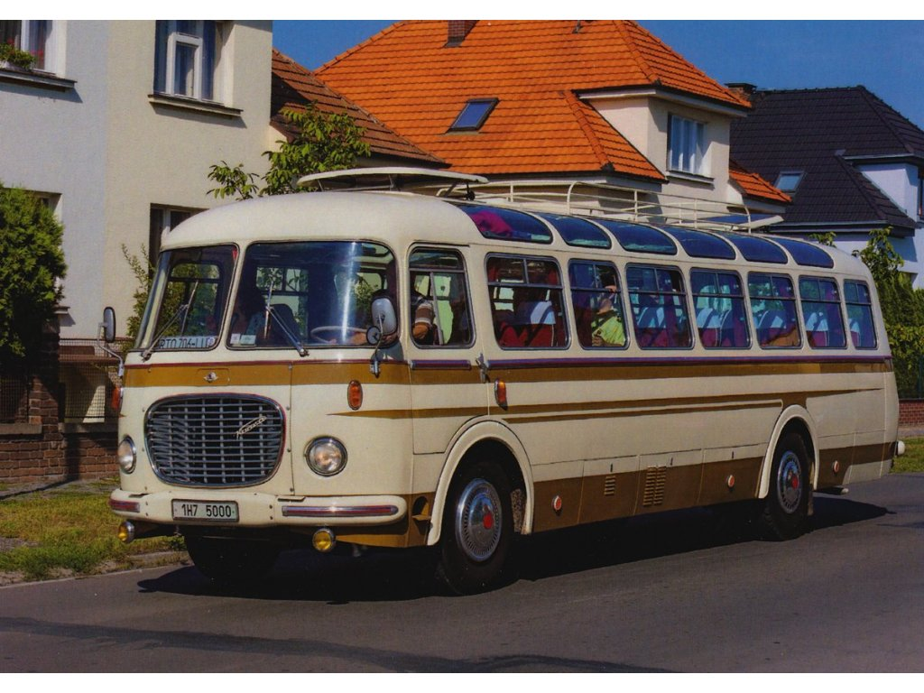 Pohlednice Autobus Škoda 706