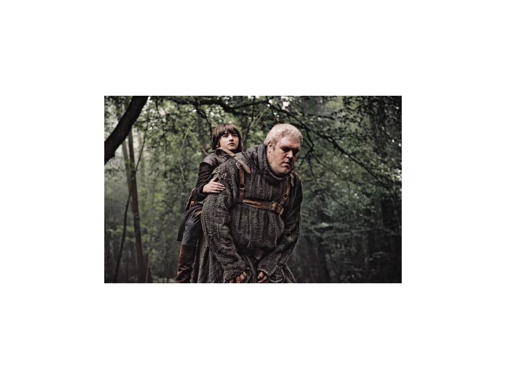 Pohlednice Game of Thrones - Bran a Hodor